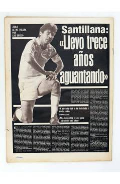 Contracubierta de AS DIARIO DEPORTIVO 5092. EL MADRID CON TODOS MENOS GALLEGO. 19 FEB 1984 (Vvaa) As 1984