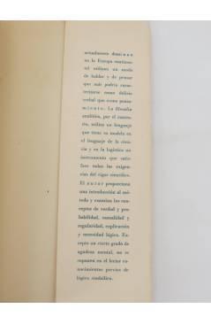 Muestra 2 de COLECCION ESTRUCTURA Y FUNCION 13. TEORIA ANALITICA DEL CONOCIMIENTO (Arthur Pap) Tecnos 1964
