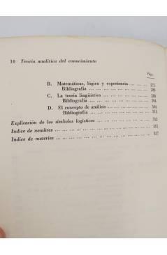 Muestra 4 de COLECCION ESTRUCTURA Y FUNCION 13. TEORIA ANALITICA DEL CONOCIMIENTO (Arthur Pap) Tecnos 1964