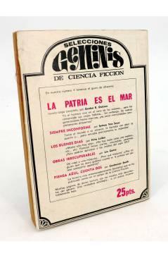 Contracubierta de SELECCIONES GEMINIS DE CIENCIA FICCION 3. LOS HEROES BIEN ADIESTRADOS (Arthur Sellings) Géminis