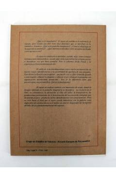 Contracubierta de LA PANTALLA IMAGINARIA EN LA EXPERIENCIA ANALITICA. V JORNADAS (Vvaa) No acreditada 1997