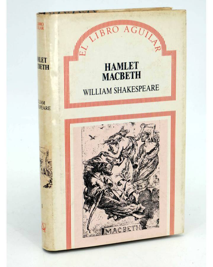 Cubierta de EL LIBRO AGUILAR 1. HAMLET / MACBETH (William Shakespeare) Aguilar 1987