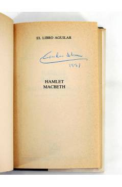 Muestra 1 de EL LIBRO AGUILAR 1. HAMLET / MACBETH (William Shakespeare) Aguilar 1987