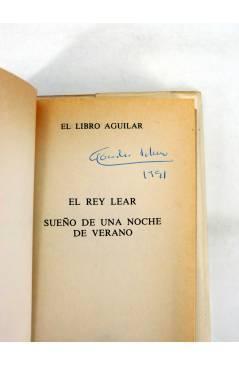 Muestra 1 de EL LIBRO AGUILAR 89. EL REY LEAR / SUEÑO DE UNA NOCHE DE VERANO (William Shakespeare) Aguilar 1990