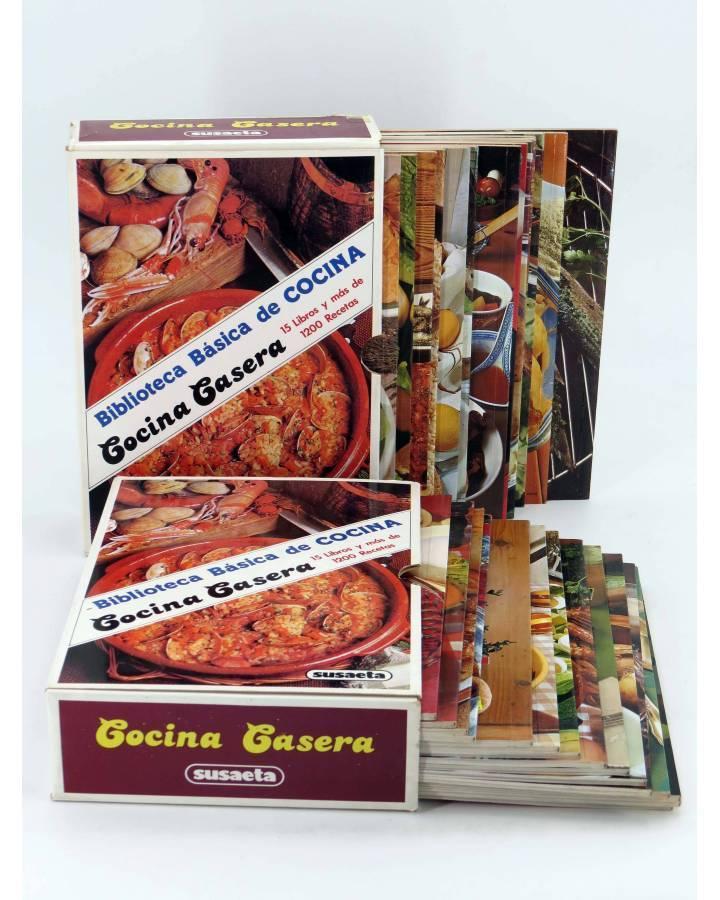 Cubierta de BIBLIOTECA BÁSICA DE COCINA CASERA. 30 LIBROS EN DOS ESTUCHES NºS 1 A 26 28 30 33 Y 35 (Vvaa) Susaeta 1977