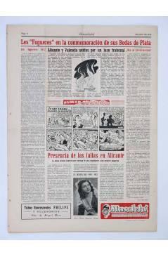 Contracubierta de MASCLETA BOMBARDERO SEMANAL GRÁFICO LITERARIO 7. 12 junio 1952 (Vvaa) Guerri 1952