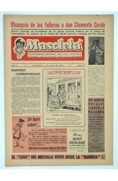 Cubierta de MASCLETA BOMBARDERO SEMANAL GRÁFICO LITERARIO 8. 5 Julio 1952 (Vvaa) Guerri 1952
