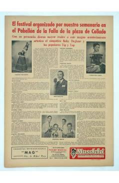 Contracubierta de MASCLETA BOMBARDERO SEMANAL GRÁFICO LITERARIO 11. 26 Julio 1952 (Vvaa) Guerri 1952