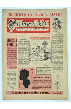 Cubierta de MASCLETA BOMBARDERO SEMANAL GRÁFICO LITERARIO 14. 16 Ago 1952 (Vvaa) Guerri 1952