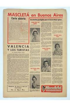 Contracubierta de MASCLETA BOMBARDERO SEMANAL GRÁFICO LITERARIO 14. 16 Ago 1952 (Vvaa) Guerri 1952