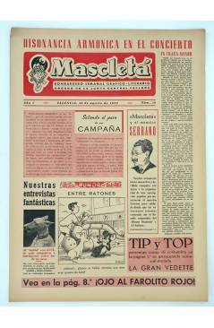 Cubierta de MASCLETA BOMBARDERO SEMANAL GRÁFICO LITERARIO 16. 30 Agosto 1952 (Vvaa) Guerri 1952