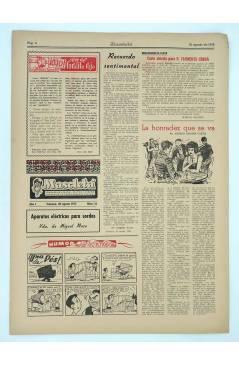 Contracubierta de MASCLETA BOMBARDERO SEMANAL GRÁFICO LITERARIO 16. 30 Agosto 1952 (Vvaa) Guerri 1952