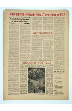 Contracubierta de MASCLETA BOMBARDERO SEMANAL GRÁFICO LITERARIO 25. 8 Nov 1952 (Vvaa) Guerri 1952