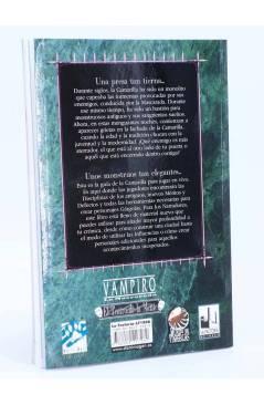 Contracubierta de EL TEATRO DE LA MENTE GUIA DE LA CAMARILLA. VAMPIRO LA MASCARADA (Vv. Aa.) La Factoría de Ideas 2003