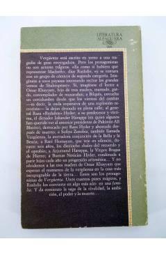 Contracubierta de VERGÜENZA (Salman Rushdie) Alfaguara 1985