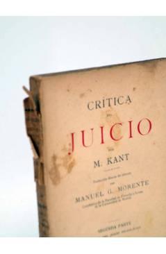 Muestra 4 de CRÍTICA DEL JUICIO (Manuel Kant) Victoriano Suárez 1914