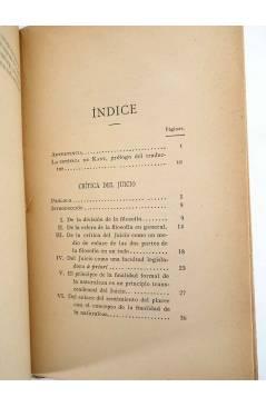 Muestra 6 de CRÍTICA DEL JUICIO (Manuel Kant) Victoriano Suárez 1914