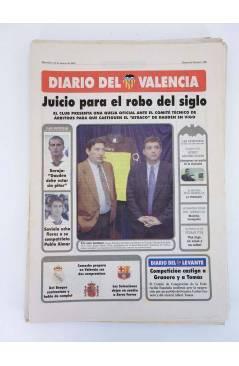Contracubierta de DIARIO DEL VALENCIA C.F. MARZO 2001 COMPLETO. 31 NºS. SUPLEMENTO DEL DIARIO DE VALENCIA (Vvaa) Valenci