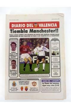 Contracubierta de DIARIO DEL VALENCIA C.F. ABRIL 2001. 28 DE 30 NºS. SUPLEMENTO DEL DIARIO DE VALENCIA (Vvaa) Valencia C