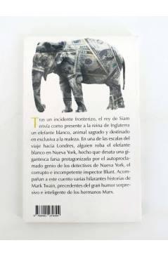 Contracubierta de BÁRBAROS MINUS EL ELEFANTE BLANCO ROBADO Y OTROS CUENTOS (Mart Twain) Barataria 2013