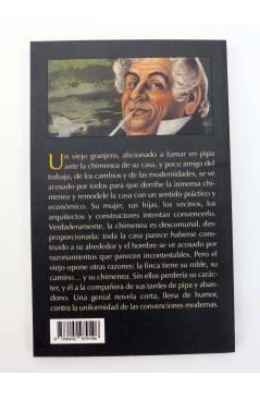 Contracubierta de YO Y MI CHIMENEA / EL PUDING DEL POBRE Y LAS MIGAJAS DEL RICO (Herman Melville) Barataria 2012