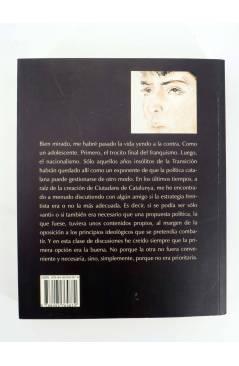 Contracubierta de FILOLOGIA CATALANA: MEMORIAS DE UN DISIDENTE (Xavier Pericay) Barataria 2009