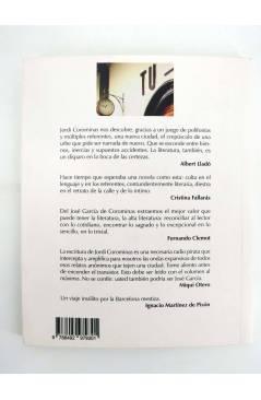 Contracubierta de COL BÁRBAROS. JOSE GARCIA (Jordi Corominas) Barataria 2012