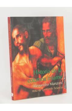 Cubierta de COL. INFERNO. HISTORIA DE LA COLUMNA INFAME (Alessandro Manzoni) Barataria 2008