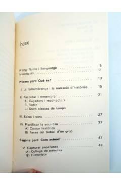 Contracubierta de RECORDAR EN GRUP IDEES DEL TREBALL DE REMEMBRANÇA I D'ALFABETITZACIÓ (J Lawrence / J Mace) DPV 1995