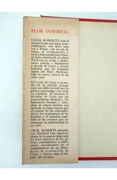 Muestra 1 de LAS NOVELAS DE LA GUERRA FLOR INMORTAL (Cecil Roberts) Luís de Caralt 1947
