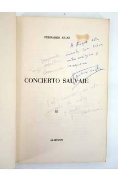 Muestra 1 de CONCIERTO SALVAJE. DEDICATORIA AUTÓGRAFA DEL AUTOR (Fernando Arias) Almudín 1979