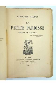 Muestra 1 de LA PETITE PAROISSE MOEURS CONJUGALES (Alphonse Daudet) Alphonse Lemere 1895
