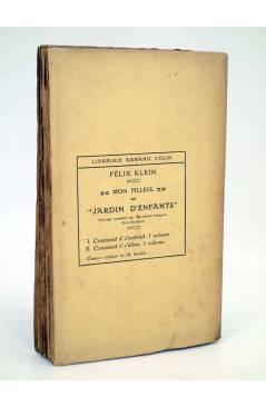 Contracubierta de MON FILLEUL AU JARDIN D'ENFANTS. COMMENT IL S'ELEVE (Felix Klein) Armand Colin 1920