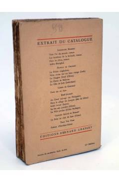 Contracubierta de LA REVOLTE SANS AME (Jacqueline Maremis) Bernard Grasset 1946