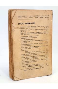 Contracubierta de FIORI D'ITALIA VOLUME SECONDO (L. Ambruzzi) Societa Editrize Internazionale 1940
