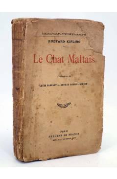 Cubierta de LE CHAT MALTAIS (Rudyard Kipling) Mercure de France 1918