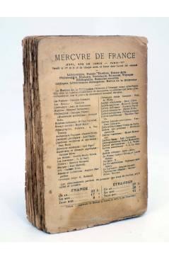 Contracubierta de LE CHAT MALTAIS (Rudyard Kipling) Mercure de France 1918