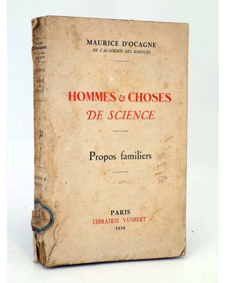 Cubierta de HOMMES ET CHOSES DE SCIENCE. PROPOS FAMILIERS (Maurice D'Ocagne) Vuibert 1930
