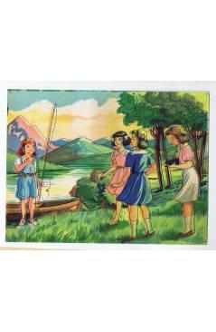 Cubierta de LITOGRAFÍA JUGUETE ROMPECABEZAS NIÑO PESCANDO 165X125 cm (No Acreditado) Archer 1950