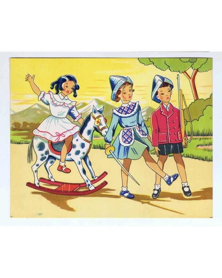 Cubierta de LITOGRAFÍA JUGUETE ROMPECABEZAS JUGANDO A LOS SOLDADITOS 185X15 cm (No Acreditado) Archer 1950