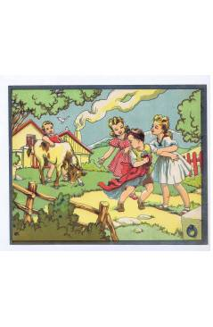 Cubierta de LITOGRAFÍA JUGUETE ROMPECABEZAS NIÑO TORERO HUYENDO 225X18 cm (No Acreditado) Archer 1950