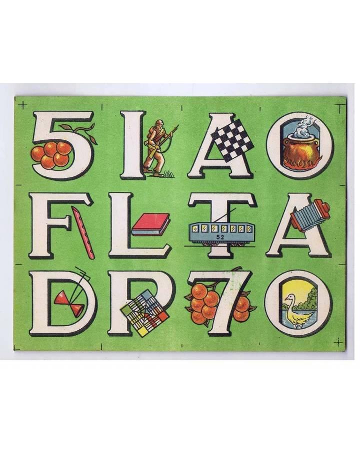Cubierta de LITOGRAFÍA JUGUETE ROMPECABEZAS ABECEDARIO LETRAS Y NÚMEROS 175X135 cm (No Acreditado) Archer 1950