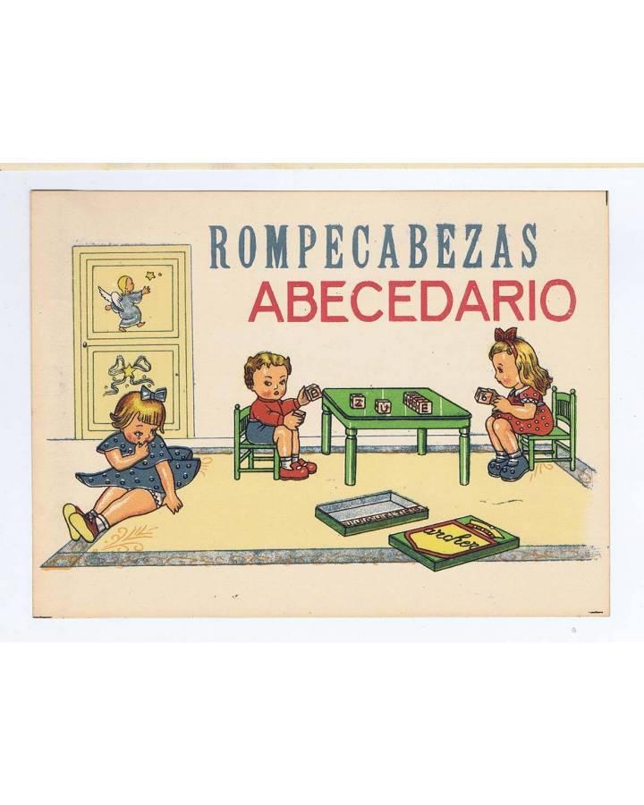 Cubierta de LITOGRAFÍA JUGUETE ROMPECABEZAS ABECEDARIO PEQUEÑO 175X13 cm (No Acreditado) Archer 1950