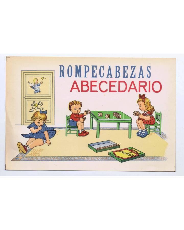Cubierta de LITOGRAFÍA JUGUETE ROMPECABEZAS ABECEDARIO GRANDE 26X17 cm (No Acreditado) Archer 1950