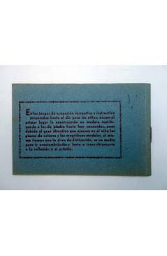 Contracubierta de ARQUITECTURA PRÁCTICA O EL PEQUEÑO ARQUITECTO. MODELOS DE CONSTRUCCIÓN EN MADERA NÚMERO 1. ORIGINAL (N