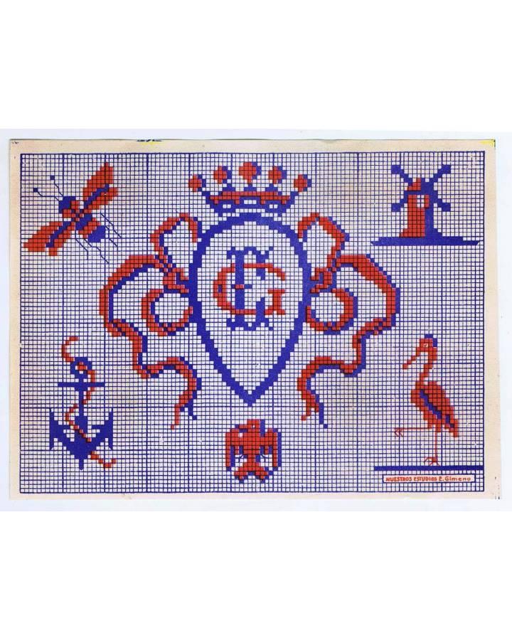 Cubierta de LITOGRAFÍA JUGUETE BORDADOS 155X115 (No Acreditado) Archer 1950