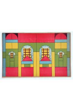 Cubierta de LITOGRAFÍA JUGUETE ARQUITECTURA INFANTIL. VENTANAS. 335X225 cm (No Acreditado) Archer 1950