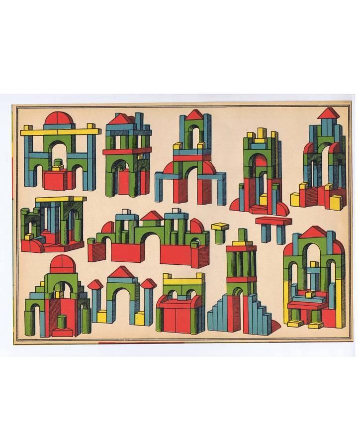 Cubierta de LITOGRAFÍA JUGUETE ARQUITECTURA INFANTIL. 36X255 cm (No Acreditado) Archer 1950