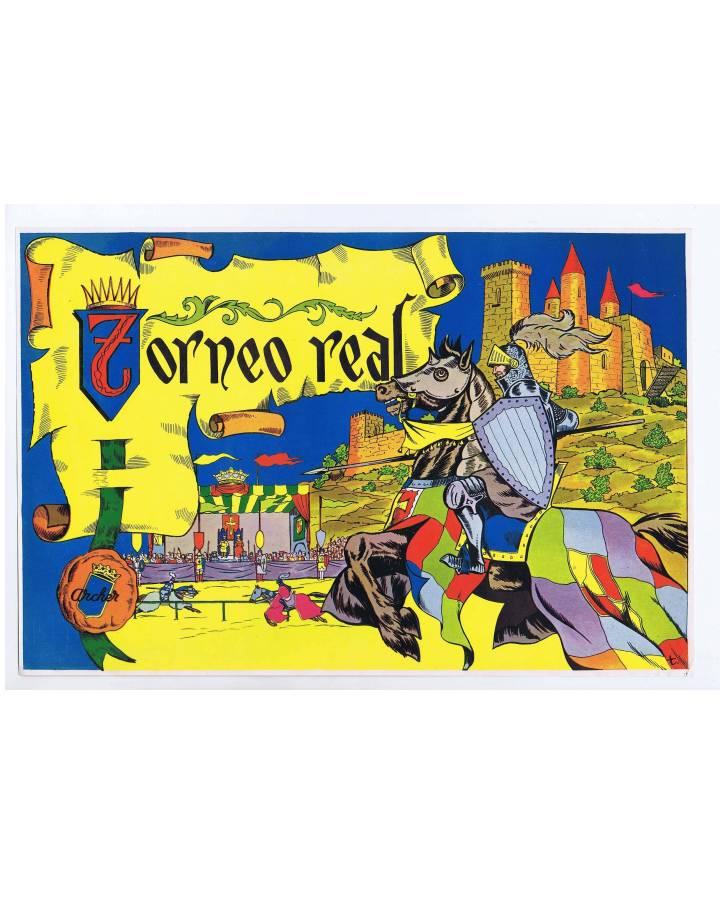 Cubierta de LITOGRAFÍA JUGUETE TORNEO REAL 39X26 cm (No Acreditado) Archer 1950