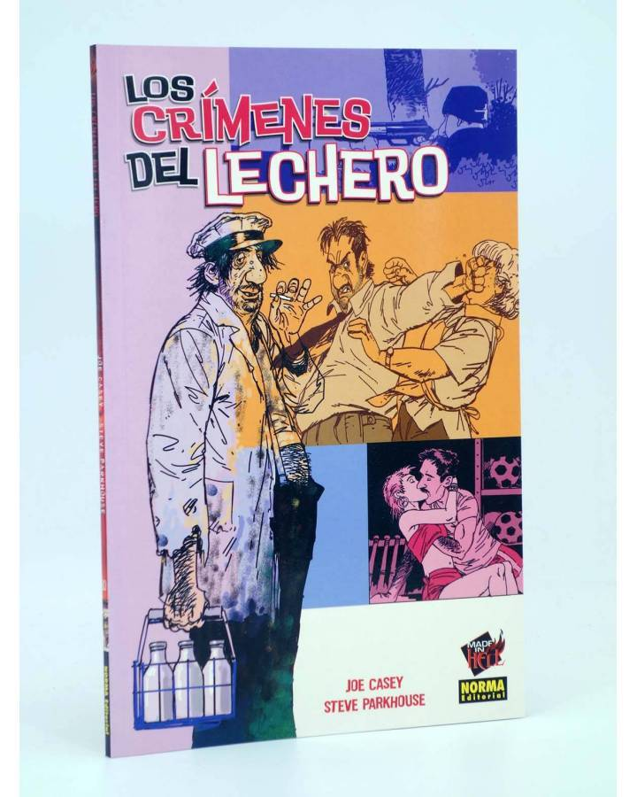 Cubierta de MADE IN HELL 10. LOS CRIMENES DEL LECHERO (Joe Casey / Steve Parkhouse) Norma 2005